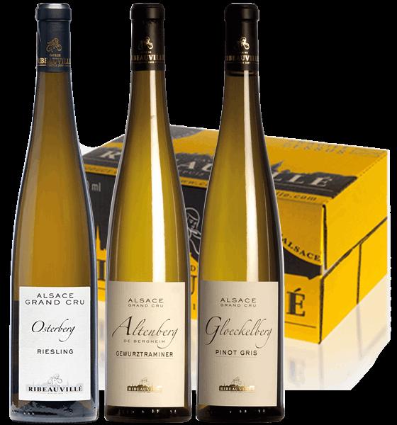 Vins d'Alsace - coffret Trio grands crus- Cave de Ribeauvillé