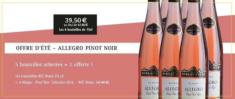 Offre d'été - Allegro Pinot Noir