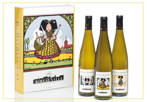Vins d'Alsace - coffrets cave de ribeauvillé