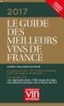 Récompense Guide des meilleurs vins de France 2017