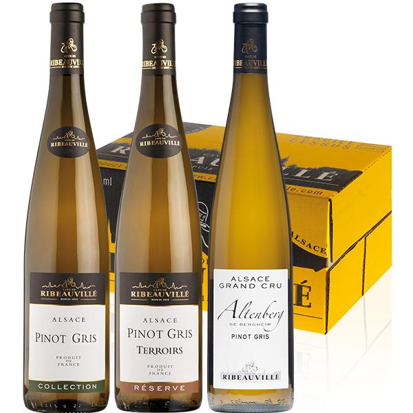 Coffret Trio Pinot Gris Cave de Ribeauvillé