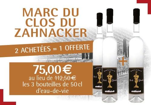 Offre Marc du Clos Zahnacker