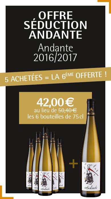 Offre Vin d'Alsace Andante 5+1 - Cave de Ribeauvillé