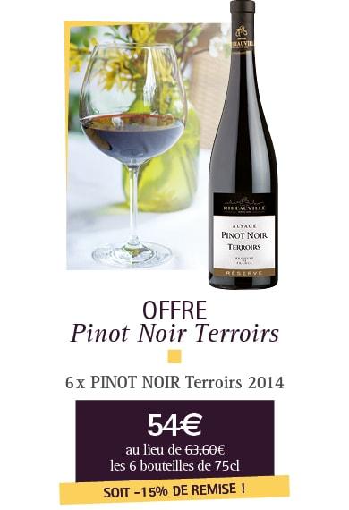 Offre Pinot Noir Terroirs