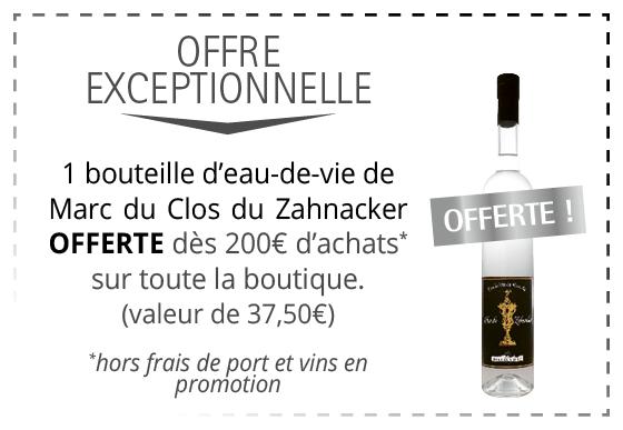 Cadeau - Marc du Clos du Zahnacker
